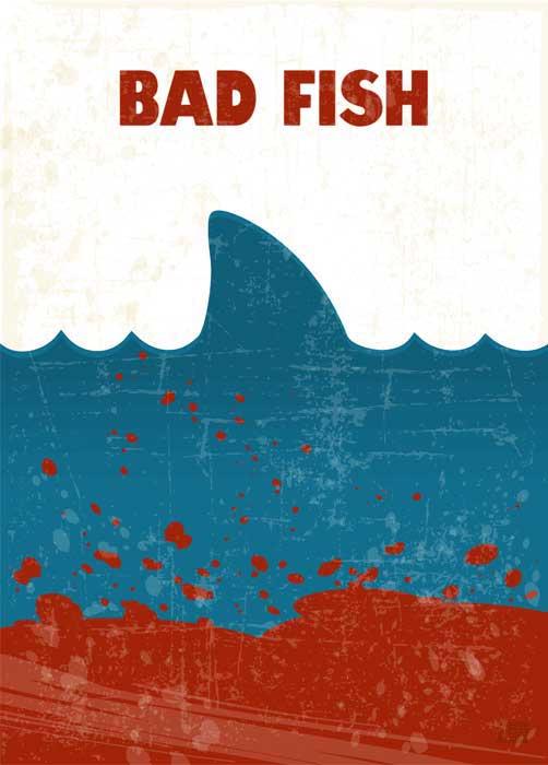 Bad Fish | Jaws | Poster | Vertical