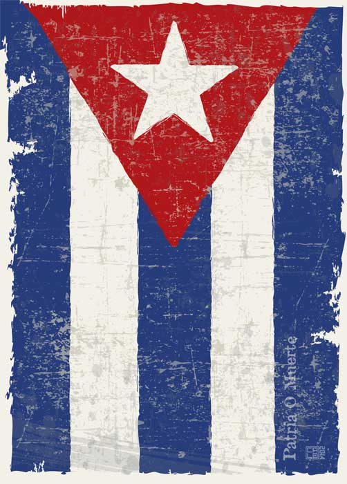 Flag Of Cuba | Poster | Vertical