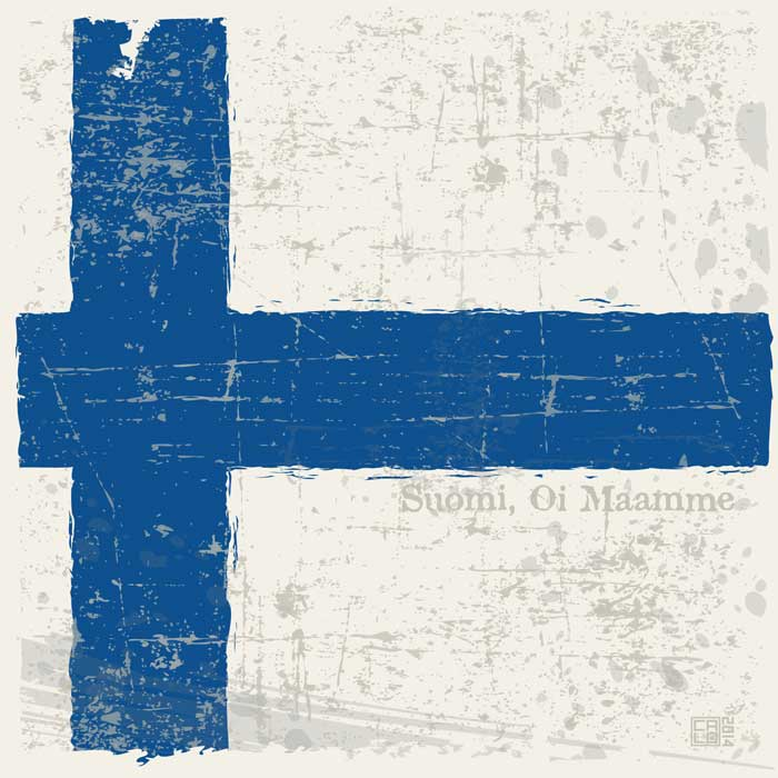 Flag Of Finland | Poster | Square