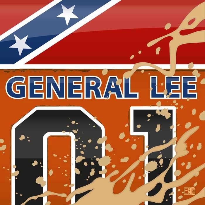 general lee dukes of hazzard poster badfishposters