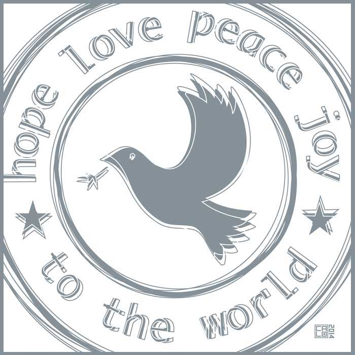 Hope, Love, Peace And Joy | Poster | Square
