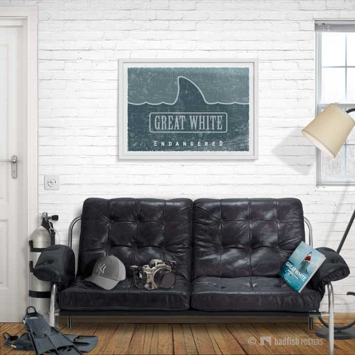 Great White - Endangered | Poster | Showroom