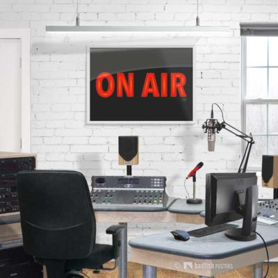 On Air | Talk Radio | Poster | Showroom