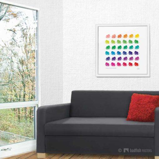 Rainbow Elephants | Poster | Showroom
