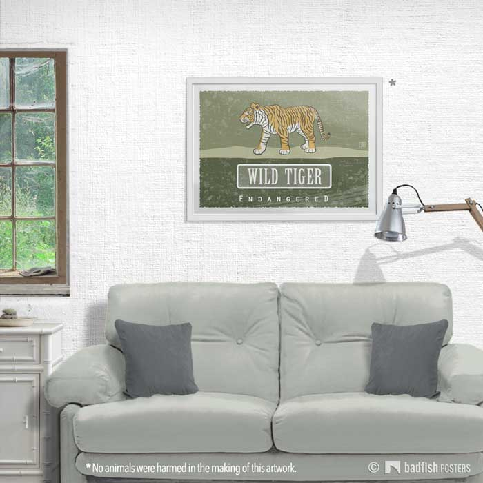 Wild Tiger - Endangered | Poster | Showroom