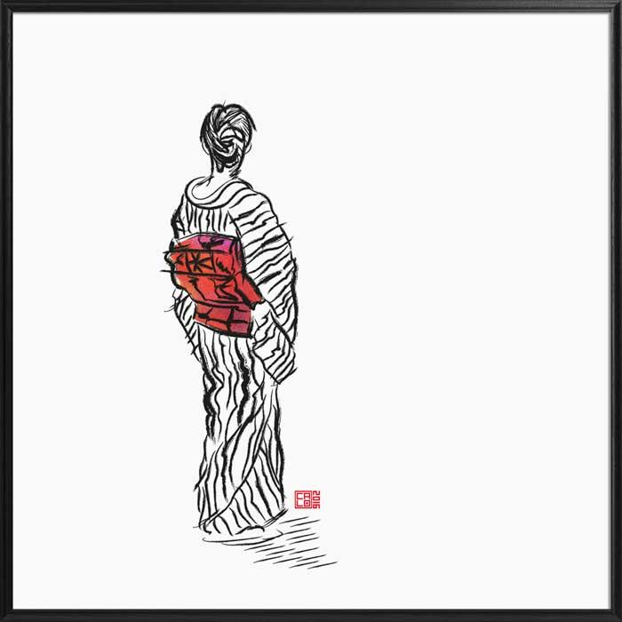 The Kimono Lady | Poster | Square