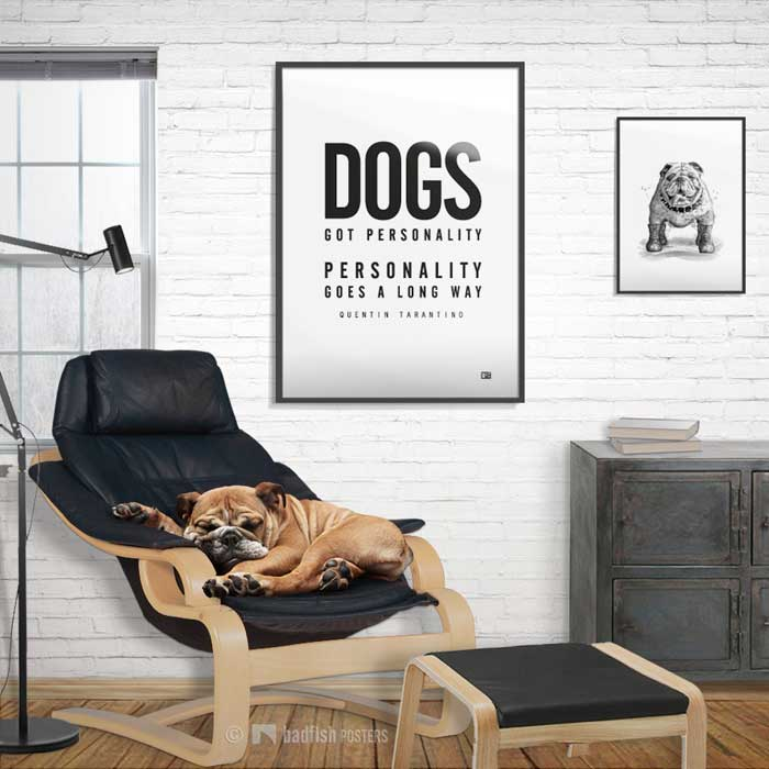 Dogs Got Personality | Pulp Fiction | Poster | Showroom