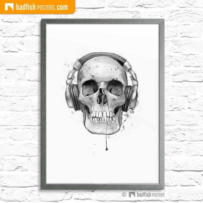 Skull With Headphones | Poster Blog