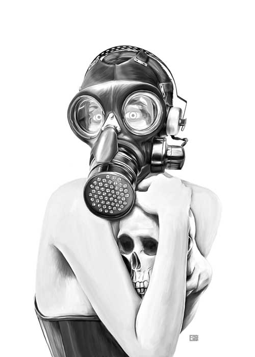Gas Mask Girl | Poster | Vertical