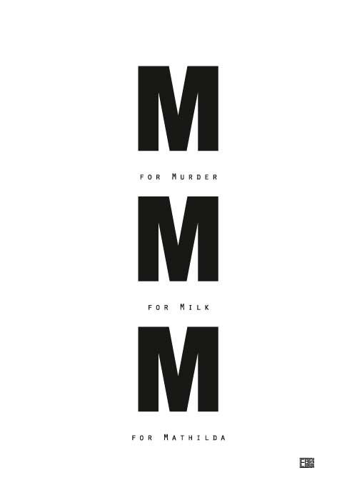 M for Mathilda | Leon: The Professional | Poster | Vertical