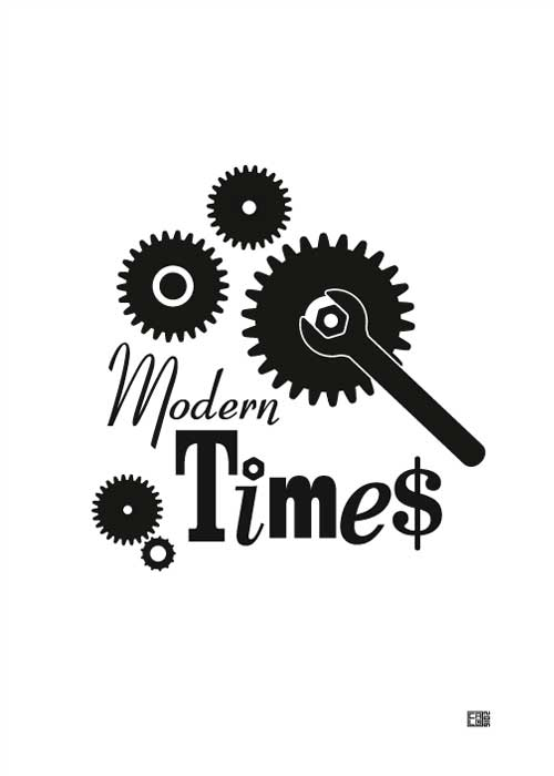 Modern Times | Charlie Chaplin | Poster | Vertical