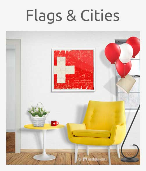 Flags and Cities Posters