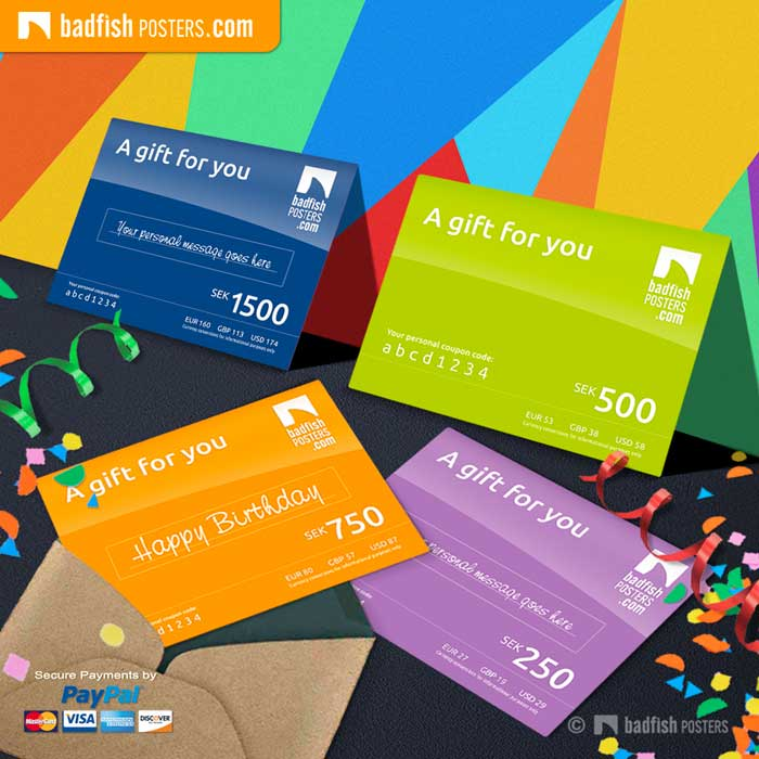 BadFishPosters Gift Cards