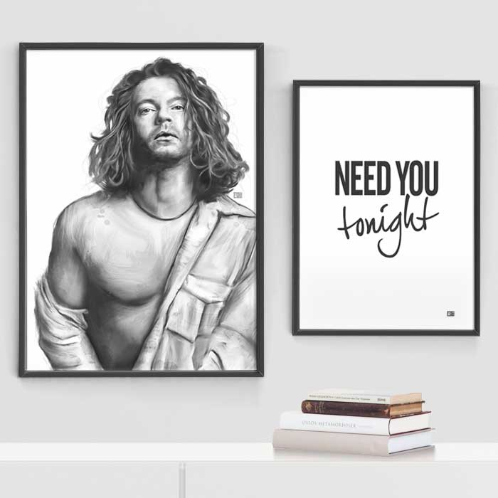 Michael Hutchence and Need You Tonight | Poster | Showroom