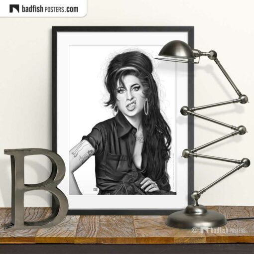 Amy Winehouse | Art Poster | © BadFishPosters.com