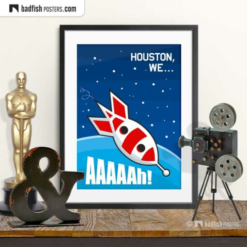 Apollo 13 | Houston, We... Aaaaah! | Comic Movie Poster | © BadFishPosters.com