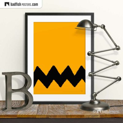 Charlie Brown | Graphic Poster | © BadFishPosters.com