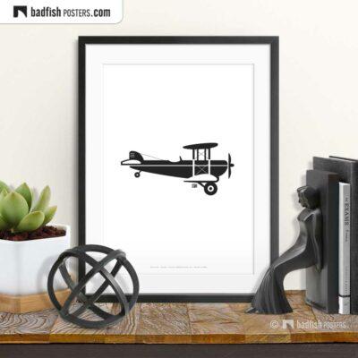 Crop Duster | Biplane | Minimal Poster | © BadFishPosters.com