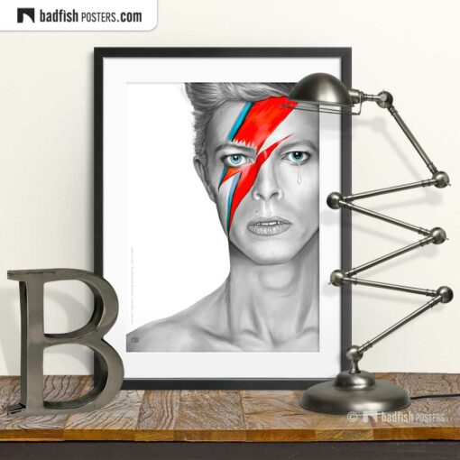 David Bowie | Aladdin Sane | Art Poster | © BadFishPosters.com