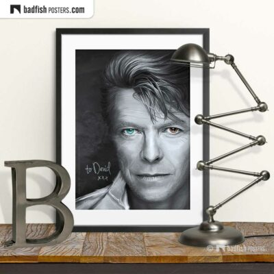 David Bowie | Tribute to David | Art Poster | © BadFishPosters.com