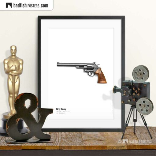 Dirty Harry - Magnum | Movie Art Poster | © BadFishPosters.com