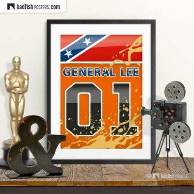 The Dukes of Hazzard - General Lee | Movie Art Poster | © BadFishPosters.com