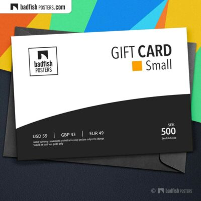 Gift Card Small | eGift Card | Gift Certificate | Email Gift Card | © BadFishPosters.com