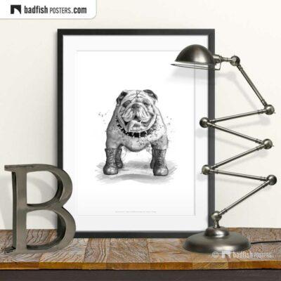 English Bulldog | Art Poster | © BadFishPosters.com