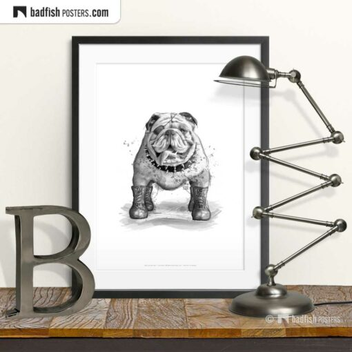 English Bulldog | Art Poster | © BadFishPosters.com