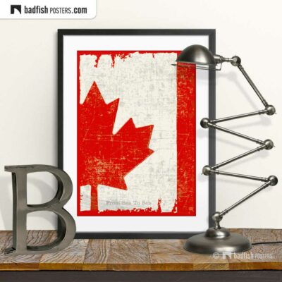 Flag Of Canada | Art Poster | © BadFishPosters.com