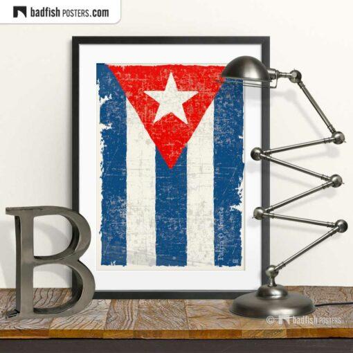 Flag Of Cuba | Art Poster | © BadFishPosters.com