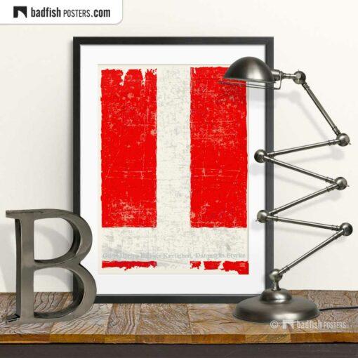Flag Of Denmark | Art Poster | © BadFishPosters.com