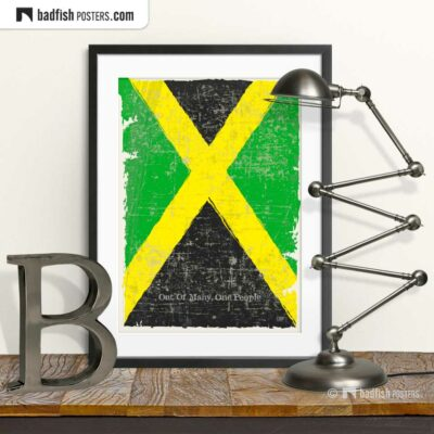 Flag Of Jamaica | Art Poster | © BadFishPosters.com