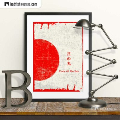 Flag Of Japan | Circle Of The Sun | Art Poster | © BadFishPosters.com