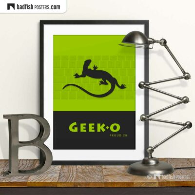 Geek-o | Graphic Poster | © BadFishPosters.com