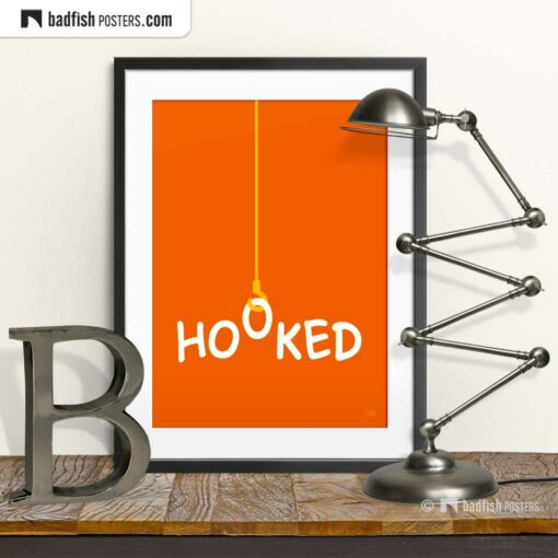 Hooked | Graphic Poster | © BadFishPosters.com