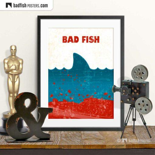 Jaws | Bad Fish | Movie Art Poster | © BadFishPosters.com