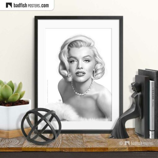 Marilyn Monroe | Art Poster | © BadFishPosters.com