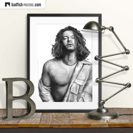 Michael Hutchence | INXS | Tribute to Michael | Art Poster | © BadFishPosters.com