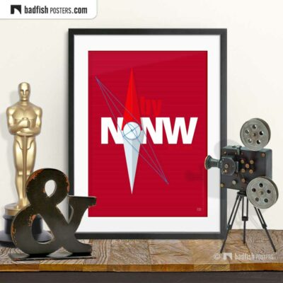 North by Northwest | N-by-NW | Movie Art Poster | © BadFishPosters.com