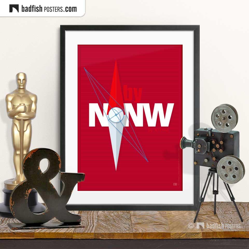 north by northwest poster badfishposters. Black Bedroom Furniture Sets. Home Design Ideas