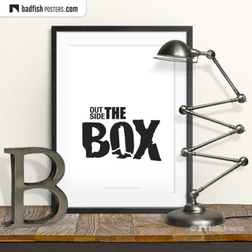 Outside The Box | Typographic Poster | © BadFishPosters.com