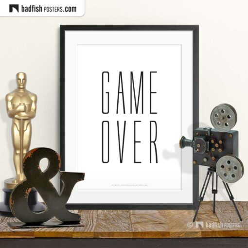 Saw | Game Over | Typographic Movie Poster | © BadFishPosters.com