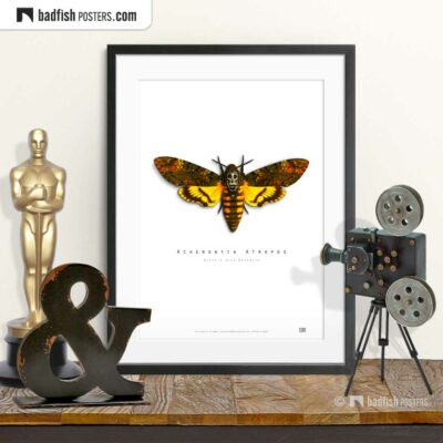 The Silence Of The Lambs | Death's-Head Hawkmoth | Movie Art Poster | © BadFishPosters.com