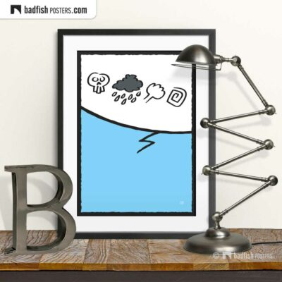 Cursing | Comic Style Speech Bubble Poster | © BadFishPosters.com