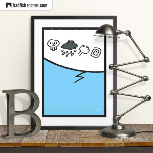 Cursing   Comic Style Speech Bubble Poster   © BadFishPosters.com