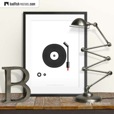 Spin That Vinyl | Minimal Poster | © BadFishPosters.com