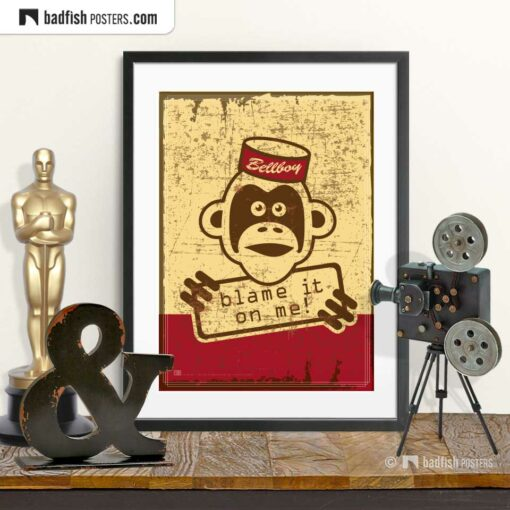 The Bellboy | Movie Art Poster | © BadFishPosters.com