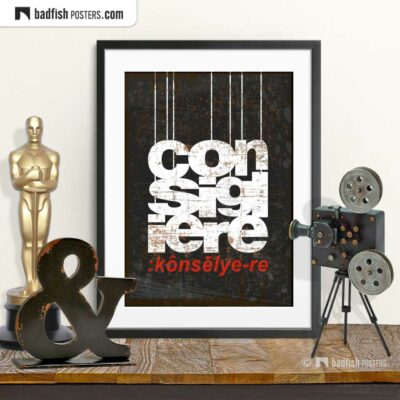 The Godfather | Consigliere | Movie Art Poster | © BadFishPosters.com