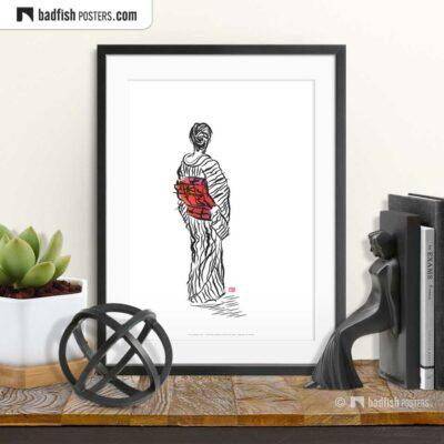 The Kimono Lady | Art Poster | © BadFishPosters.com